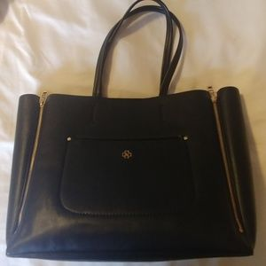 Ann Taylor Leather Black Tot Bag